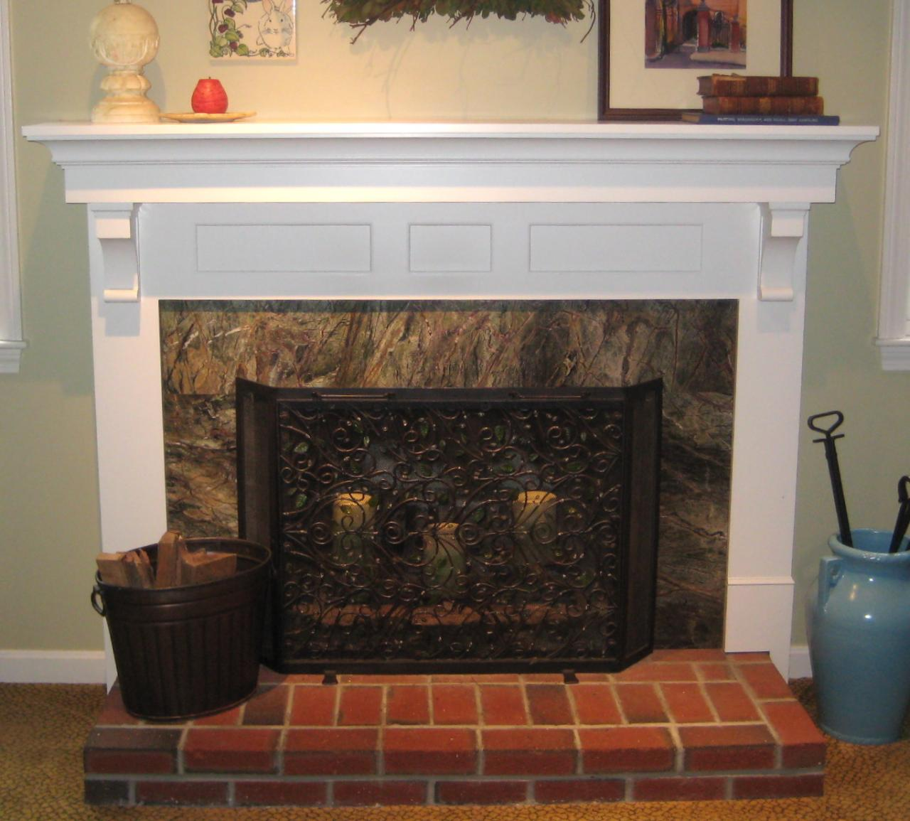 Shelving for the home pinterest built in shelves drywall and fire places - Brick fireplace surrounds ideas ...